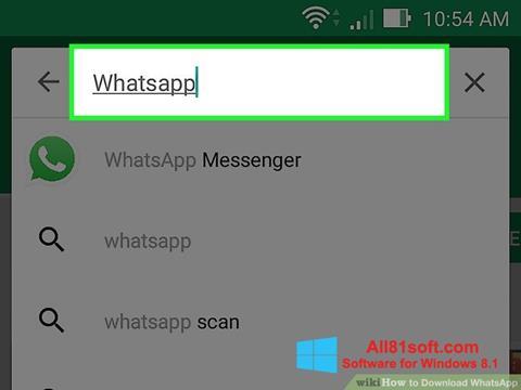 Captura de pantalla WhatsApp para Windows 8.1