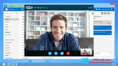 Captura de pantalla Skype para Windows 8.1