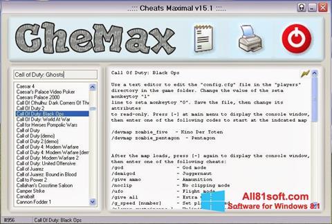 Captura de pantalla CheMax para Windows 8.1