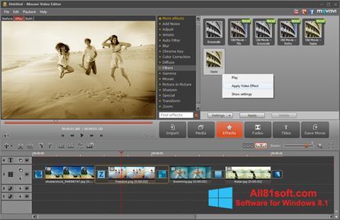 Captura de pantalla Movavi Video Editor para Windows 8.1