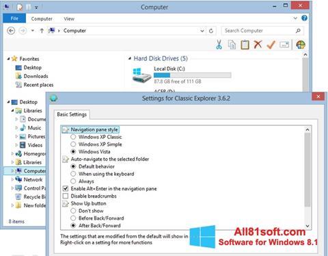 Captura de pantalla Classic Shell para Windows 8.1